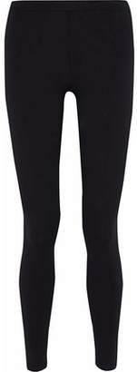 RED Valentino Point D'esprit-Trimmed Stretch-Knit Leggings