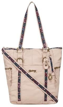 Mantaray Light Pink Floral Inlay Shoulder Bag