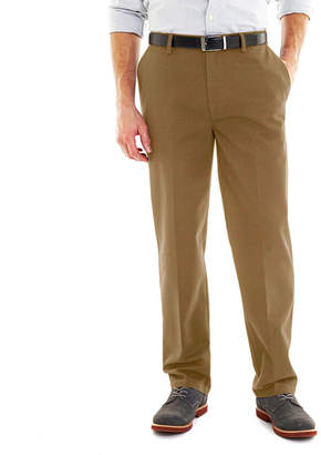 ST. JOHN'S BAY Worry Free Comfort-Ease Relaxed-Fit Flat-Front Pants