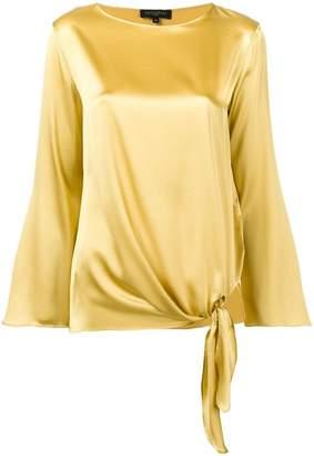 Antonelli Corinne side tie blouse