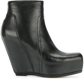 Rick Owens zip wedge boots