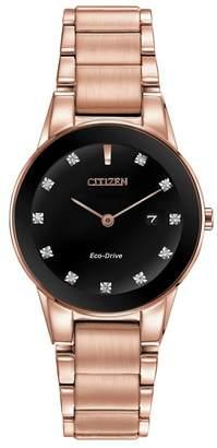 Citizen Ladies Rose Gold 'Eco-Drive' Analog Bracelet Watch Ga1058-59Q