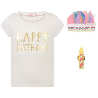Billieblush BillieblushGirls Ivory Happy Birthday Top & Gift Set