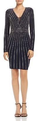 Aqua Beaded Long-Sleeve Dress - 100% Exclusive