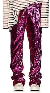 Faith Connexion Men's Sequined Wide-Leg Track Pants - Pink