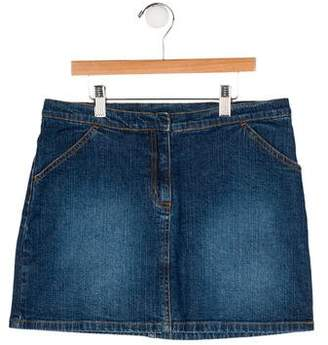 Lilly Pulitzer Girls' Denim Printed Skirt