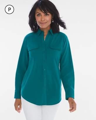 Chico's Chicos Petite Silky Soft Shirt