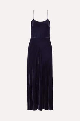 Jason Wu Open-back Velvet Maxi Dress - Blue