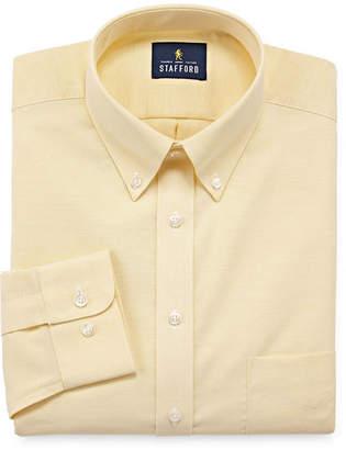 STAFFORD Stafford Stafford Travel Wrinkle-Free Stretch Oxford Long Sleeve Oxford Dress Shirt