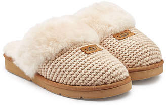 UGG Cozy Knit Cable Slippers with Sheepskin
