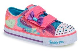 Toddler Girl's Skechers Twinkle Toes Shuffles Light-Up Sneaker $42.95 thestylecure.com