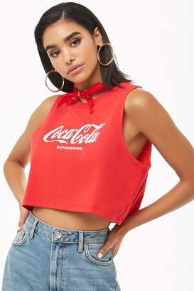 Forever 21 Coca-Cola Graphic Cropped Tank Top