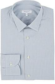 Boglioli Men's Checked Cotton Dress Shirt - Lt. Blue