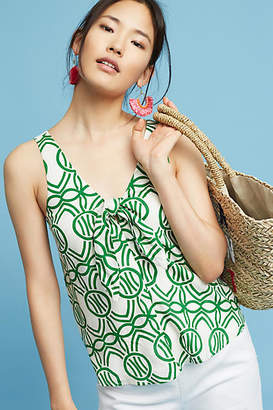 Maeve Verena Tie-Front Blouse $58 thestylecure.com