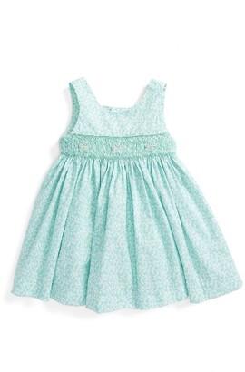 Infant Girl's Luli & Me Floral Smocked Dress $54 thestylecure.com