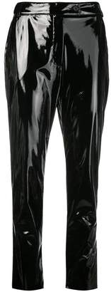 MSGM slim fit vinyl trousers