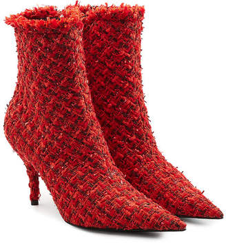 Balenciaga Tweed Ankle Boots