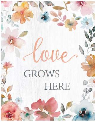 """New View Gifts """"Love Grows Here"""" Canvas Wall Art"""