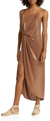 HALSTON HERITAGE Metallic Jersey Dress $295 thestylecure.com