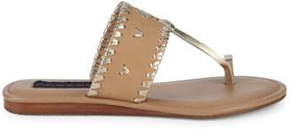 Steven by Steve Madden Mykonos Leather Toe-Strap Slides