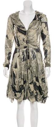 AllSaints Printed Knee-Length Dress