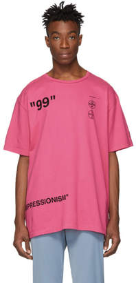 Off-White Off White Pink Impressionism Boat T-Shirt