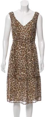 Calypso Silk Animal Print Dress