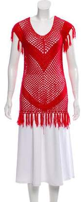 Melissa Odabash Crochet Sleeveless Tunic