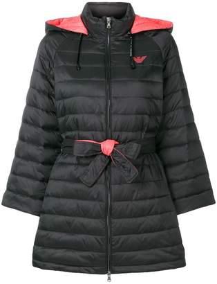 Emporio Armani padded single breasted coat