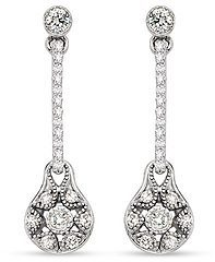 1/4 Carat Diamond 18K White Gold TACORI Drop Earrings (FE597)