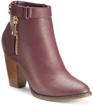 Apt. 9® Women's Zipper Ankle Boots $74.99 thestylecure.com