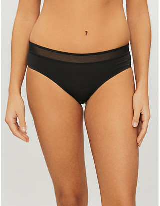 Sloggi S BY Ever Fresh mesh and stretch-jersey briefs