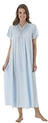 Shadowline Women's Women's Beloved 53 Inch Flutter Sleeve Long Gown