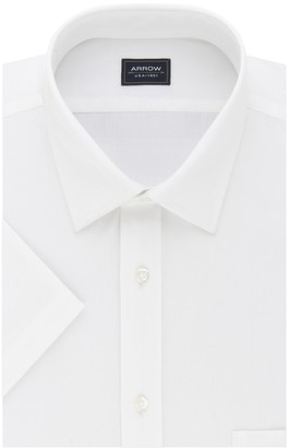 Arrow Big & Tall Regular-Fit Spread-Collar Short-Sleeved Dress Shirt