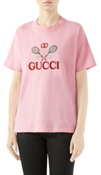 d676e3323 Gucci Tennis Embroidered Cotton Tee
