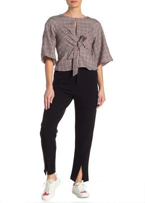 Romeo & Juliet Couture Topstitched Split Ankle Pants
