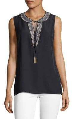 Tommy Hilfiger Sleeveless Embroidered Top