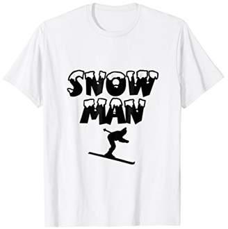 Snow Man Ski T-Shirt for Skiers