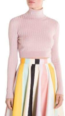 Emilio Pucci Rib Cropped Turtleneck Sweater
