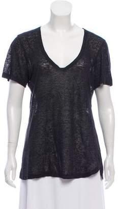 Isabel Marant Sheer Short Sleeve Top