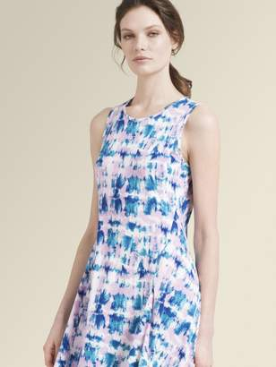DKNY Printed Jersey Sleeveless Dress