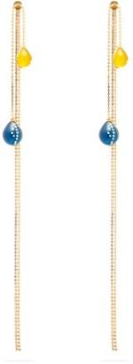 Christopher Kane Crystal Embellished Balloon Earrings - Womens - Yellow