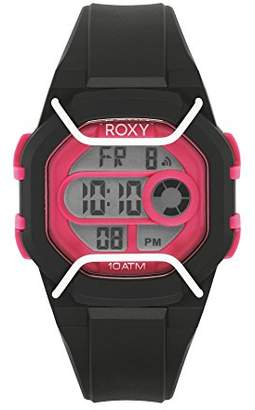 dee9d95b43 Roxy Women s RX 1015BKPK THE GUARD Black and Pink Digital Chronograph Strap  Watch