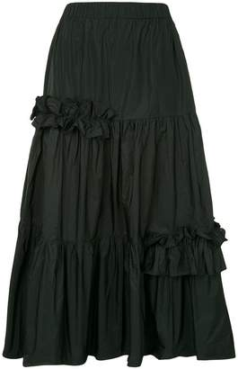 P.A.R.O.S.H. flared midi skirt