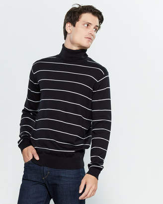 Gant Long Sleeve Stripe Turtleneck Sweater