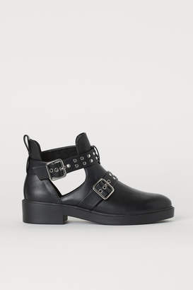 H&M Open-sided Boots - Black