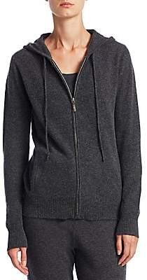 Saks Fifth Avenue Women's COLLECTION Cashmere Modern Zip Hoodie