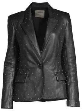 L'Agence Montego Studded Leather Blazer