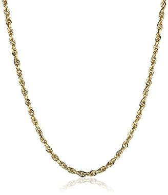Men's 14k Yellow Gold Solid Diamond-Cut Rope Chain Necklace (2.25mm)