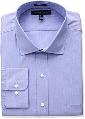 Tommy Hilfiger Men's Big and Tall Non Iron Tall Fit Stripe Spread Collar Dress Shirt